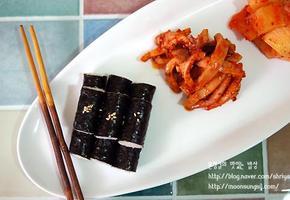 밥과 반찬을 따로 먹는 충무김밥