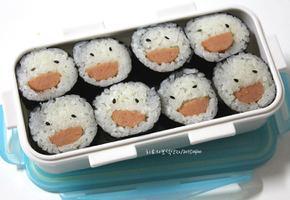 꼬마김밥이라 유치원 소풍도시락 하기 좋은 스마일김밥