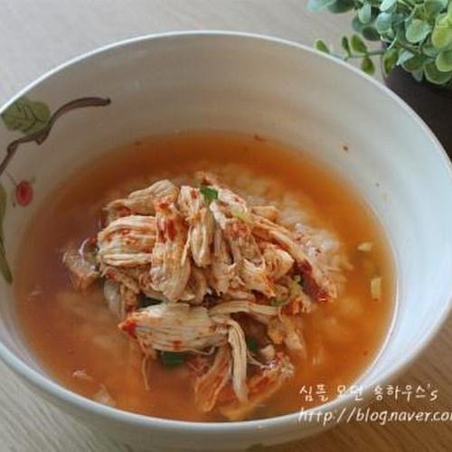 차승원 닭곰탕 얼큰하다 # 닭가슴살만으로 닭곰탕 만들기