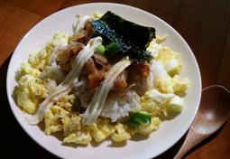 남은 치킨 활용법 치킨마요덮밥