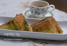 통식빵 하나로 간단한 아침식사를, 하이토스트