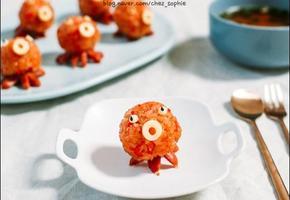 먹기 아까울 정도로 귀여운 '문어 주먹밥' 만들기