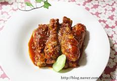 매운맛의 최고봉 핫소스닭다리