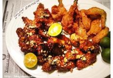 닭봉, 닭날개 양념 후라이드 치킨