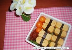 봄나들이 도시락/ 흑미 계란말이초밥 도시락
