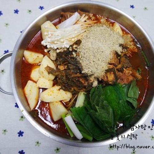 뼈다귀감자탕/시래기 감자탕 만드는법