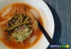 열무김치국물 1컵으로 '열무 국수 만들기'