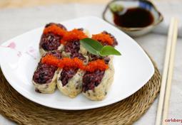 도시락의 별미 흑미 유부초밥