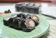 흑미 게살 샐러드 묵은지김밥