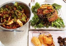 #코다리냉면과 열무비빔밥 만들기