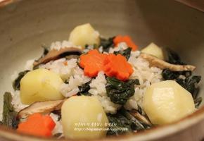 곤드레 감자밥