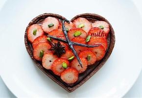 발렌타인데이 선물용 하트 초콜릿 치즈타르트
