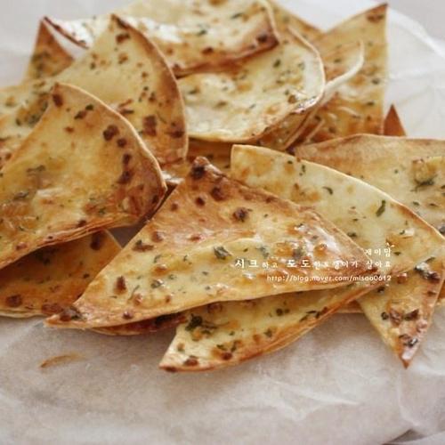 또띠아마늘칩 -10분이면 가능 또띠아칩 #간단간식