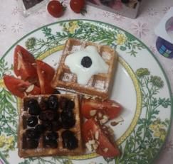 핫케이크가루로 와플만들어 브런치 즐기자(주말요리)