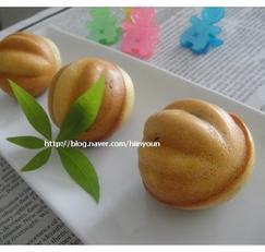 핫케이크가루를 이용한 녹차 땅콩 호두과자
