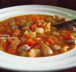 강낭콩 채소 스프 만들기