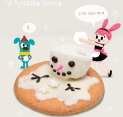 [노오븐 디저트] 마시멜로우 눈사람 쿠키 만들기♥
