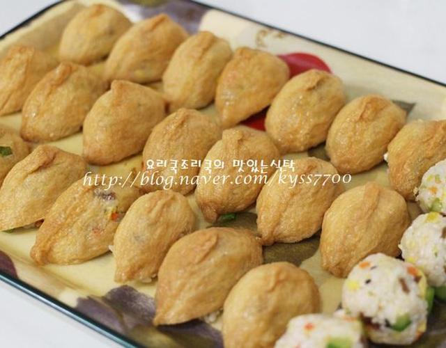 남은 김밥재료로 만든 유부초밥 & 주먹밥