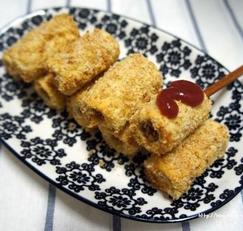 에어프라이어요리, 식빵 핫도그 (미니핫도그)