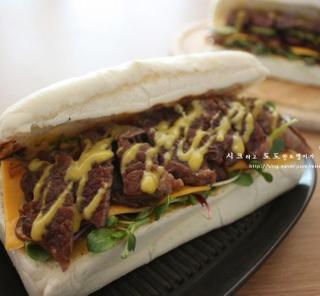 쇠고기샌드위치 - 치아바타 샌드위치