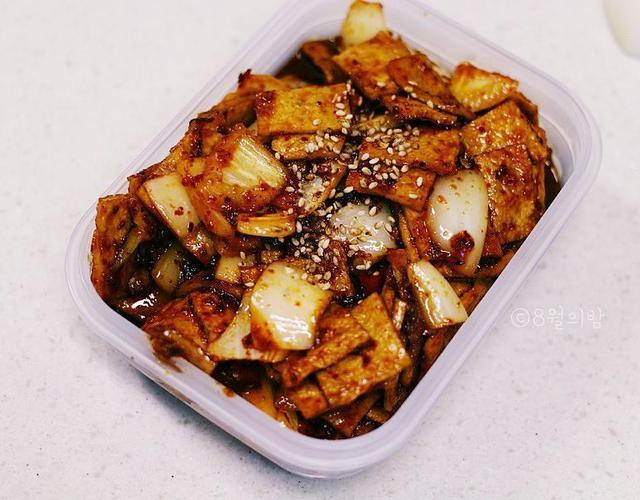 충무김밥 오뎅볶음 만들기