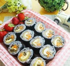 마요참치장아찌김밥 만들기