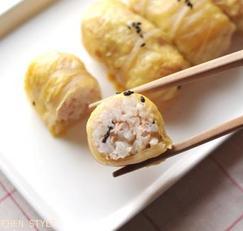반찬없을땐 신김치 말이 주먹밥