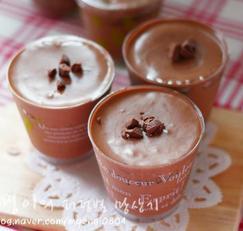 달콤 시원한 디저트의 향연 초콜릿무스케이크(초콜릿무스컵케이크,컵디저트)