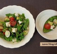 건강샐러드 (토마토&아보카도&두부)...다이어트용