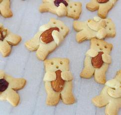 아몬드를 품은 곰돌이 쿠키 만들기