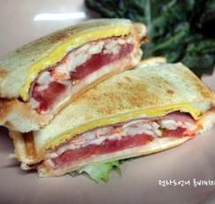 아이들간식 샌드위치메이커로 샌드위치만들기