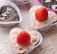 발렌타인 브라우니 컵케익