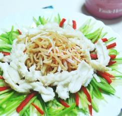 해파리냉채 - 오독오독 해파리와 톡쏘는 연겨자소스.[설음식추천,냉채소스]