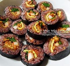 김밥 만드는 법♪ 흑미 김밥, 건강한 김밥