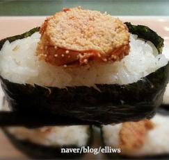 구운명란 주먹밥...짠명란젓 활용 tip