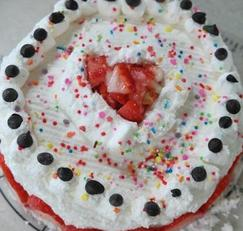 [아동요리]딸기생크림케이크 만들기 - 케이크믹스로 간단하게.