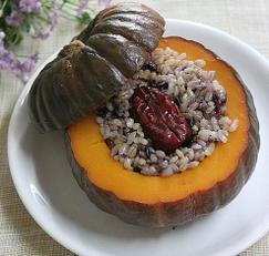잡곡밥을 넣은 ~밤호박영양밥