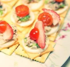 [아동요리]까나페 - 햄치즈로 간단한 까나페만들기[과일까나페,아이간식,소풍도시락메뉴]