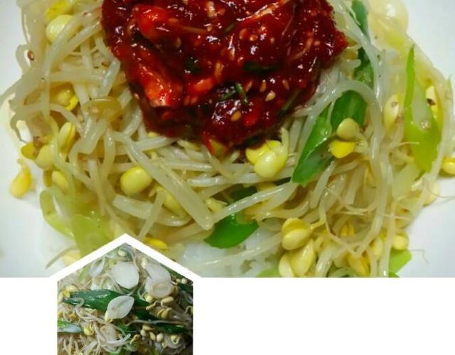 달래간장콩나물밥