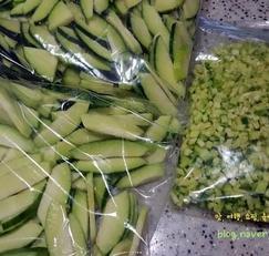 채소 냉동보관법 : 애호박 조선호박 냉동 보관하기