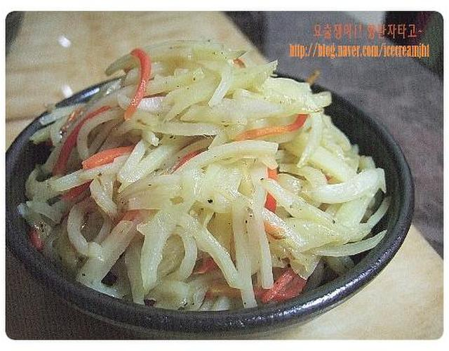 [나만의요리 - 식탁] 일상적인 반찬들로~~ 참마된장찌개 & 콩나물무침 & 오이양배추초무침 & 감자야채볶음