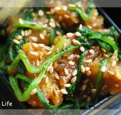 참치감자튀킴, 두부 어린무청잎조림, 돼지고기 고추장조림