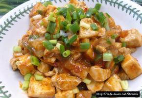 한그릇 요리 ~~ 마파두부: 혼자 여행 떠날 때 남편에게 주고가는 간단 레시피.
