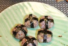 간단하게 만든 색다른 명엽채주먹밥