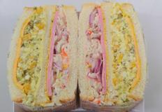 식사대용 햄에그 샌드위치