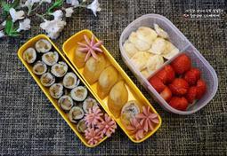 어린이집 소풍 도시락 싸기/ 떡갈비꼬마김밥,꼬마유부초밥&소세지로 모양내기