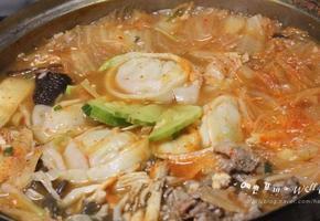 만두 김치전골요리 만들기