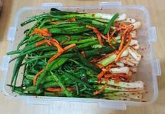 김장김치가 지겨울때 쪽파한단으로 맛있는 파김치 반찬 만들기 황금레시피