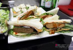 (집에서 즐기는 술안주) 햄버거 / 식빵버거 - 레토르트 제품으로 만드는 간단 요리