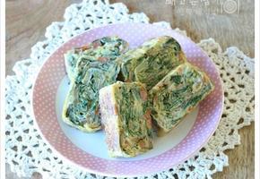 이번엔 계란말이 입니다. 남은 김밥재료로 만든 계란말이